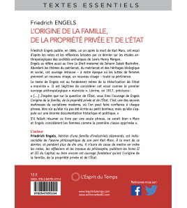 L'origine de la famille, de la propriété et de l'Etat